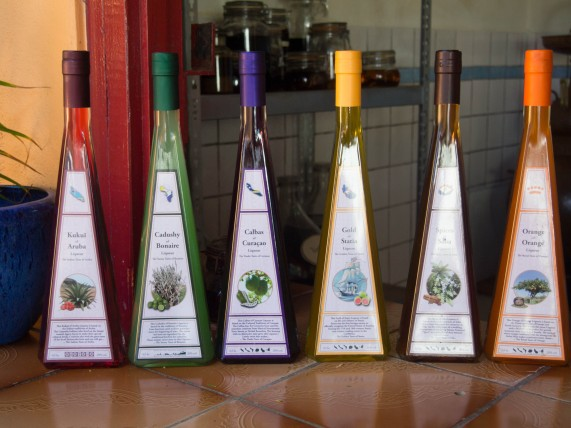 the line up of liqueurs